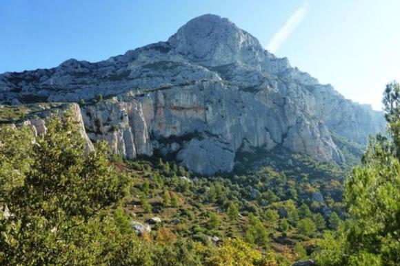 Sommet de la sainte victoire en Côte d'Azur